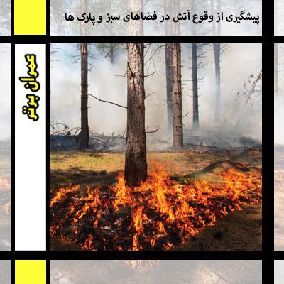پیشگیری از وقوع آتش در فضاهای سبز و پارک ها